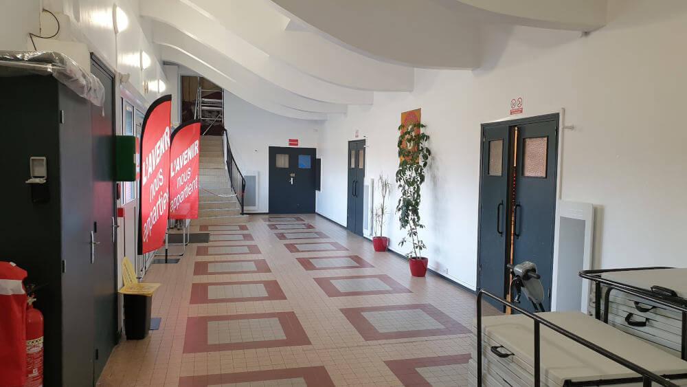 Salle des fêtes de L'avenir Dunkerque cgt